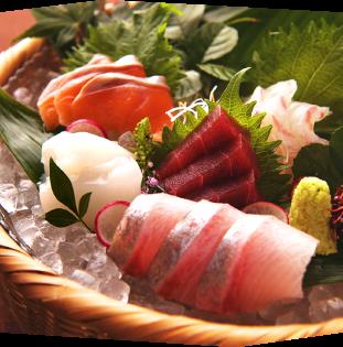 Assortment of five fresh fish