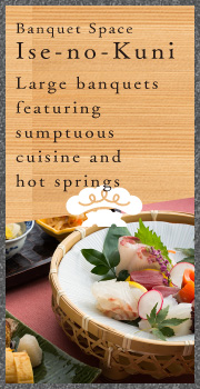 Large banquets featuring sumptuous cuisine and hot springs